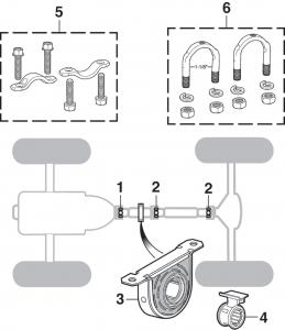 U-Joints - 2 Wheel Drive
