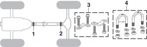 U-Joints - 2WD, 1 Piece Driveshaft