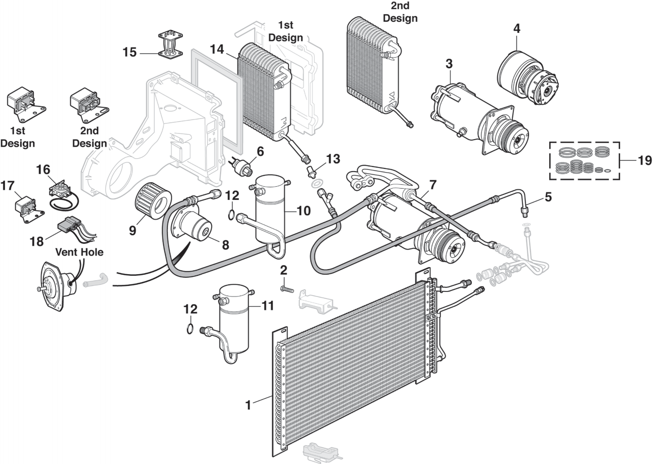 Front Air Conditioning System W/Front Air Only
