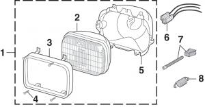 Single Headlight - Rectangular