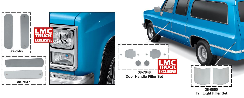 Tail Light Filler Panels
