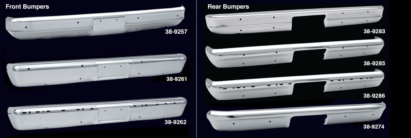 Chrome Front and Rear Bumpers