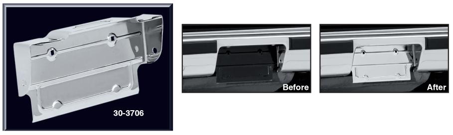 Chrome Rear License Panel