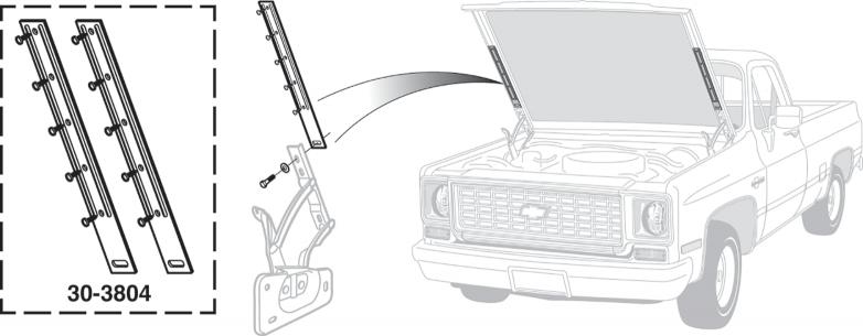 1973-80 Hood Brace Kit