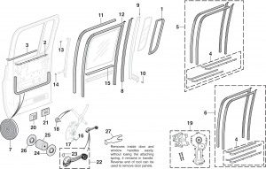 1973-91 Rear Door Glass and Components