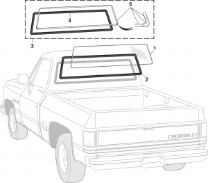 1973-91 Rear Window and Rubber