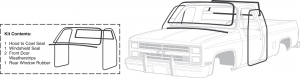 1973-91 Exterior Rubber Kits