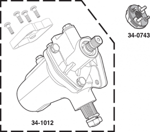 1973-79 All New Quick Ratio Power Steering Gear