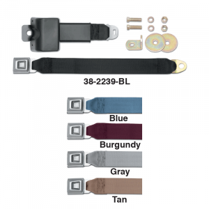 Heavy-Duty Retractable Lap Seat Belts