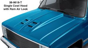 1981-87 Single Cowl Hood with Ram Air Look