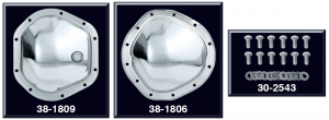 1973-89 Chrome Differential Cover and Chrome Differential Bolt Set