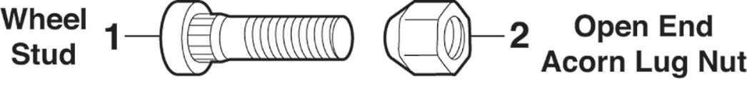 1973-89 Wheel Stud and Lug Nut