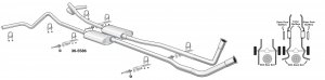 1973-89 Complete High Performance Bolt-On Exhaust Systems Connect without Welding