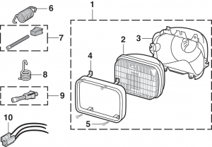 1980-89 Single Headlight - Rectangular 200mm