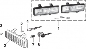 1989-91 Parklight - Models w/Dual Headlights