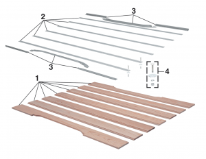 Stepside Bed Wood and Components