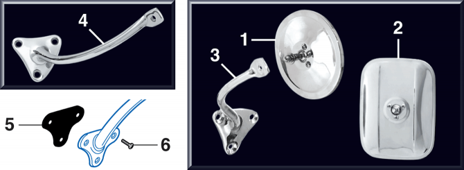 Reproduction Exterior Mirrors