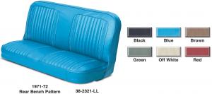 Vinyl Rear Bench Seat Reupholstery Kit