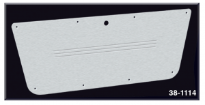 Brushed Billet Aluminum Glove Box Door Panel