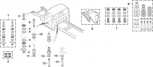 Cab/Frame Mounting Hardware/Radiator Core Support