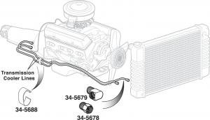 Pre-Bent Powerglide Transmission Cooler Lines