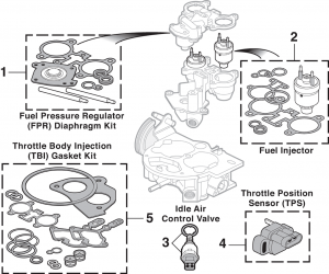 Throttle Body Components - Model 220