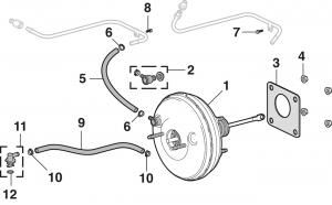 Brake Booster - Vacuum Type