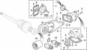 4WD Front Axle Components - DANA 44