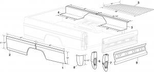 Styleside Steel Bed Patch Panels
