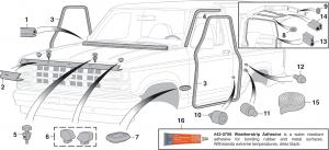 Exterior Rubber Components