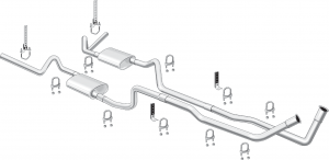 Complete V8 High Performance Dual Exhaust Systems with Bolt-On Convenience