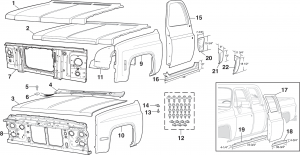 1973-91 Front Steel Body Parts