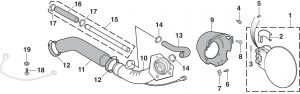 Gas Tank Filler Door and Components