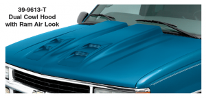 Cowl Induction Hood - Dual with Ram Air Look