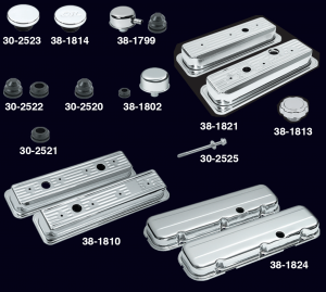 Chrome Valve Cover Sets and Accessories