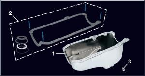 Chrome Oil Pan and Magnetic Drain Plug
