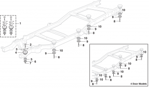 Radiator Core Support / Body to Frame Mounting Hardware