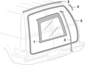 Cargo Door Glass and Rubber Components