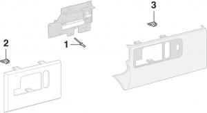 Side Rear Door Handle Components