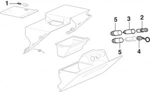 Ashtray Assembly Components