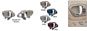 Front/Rear Door Handle Sets with Chrome Pulls