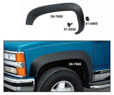 Reproduction 4X4 Fender Flares