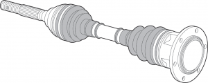 Front CV Axle Assembly - 4WD