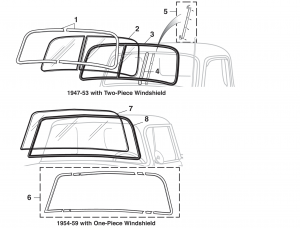 Windshield Glass and Seals