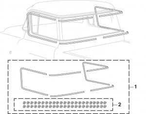 Custom Cab Molding Set