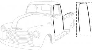 Cab Weatherstrip Retainer Sets