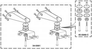 V8 Engine Mount Adaptor Kit