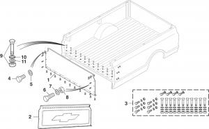 Fleetside Bed Front End Panel - Steel Floor