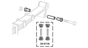 Polyurethane Front / Rear Frame Shackle Eye Bushing Set