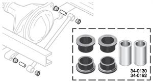 Polyurethane Track Arm Bushing Set